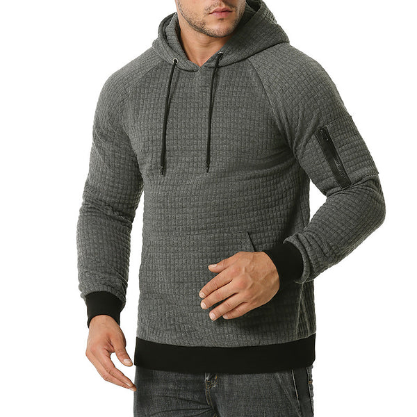MenS Fashion Clip Silk Cotton Sports Leisure Hooded Sweater