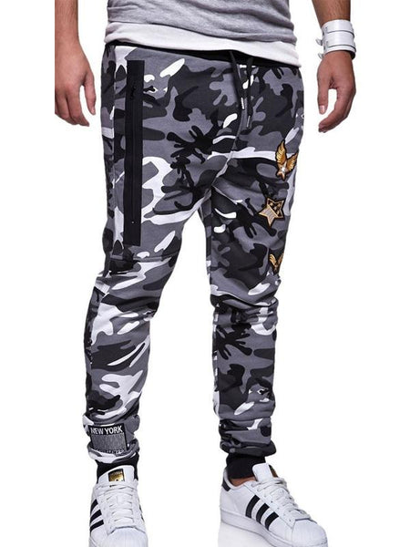 Mens casual fashion fan sports trousers
