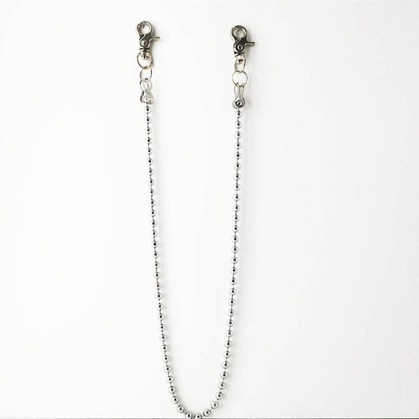MEN'SCASE - Mens simple all-match round bead pants chain