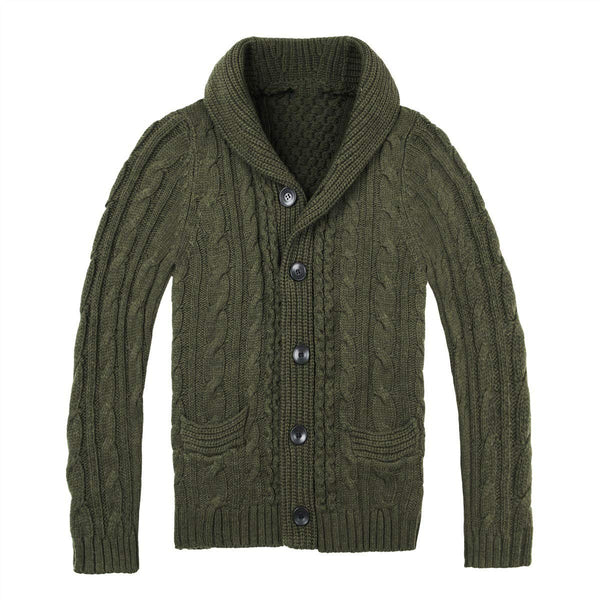 Men's fashion casual single-breasted pocket knitted jacket