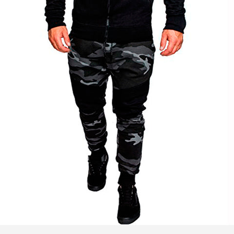 Mens sports casual fashion camouflage trousers