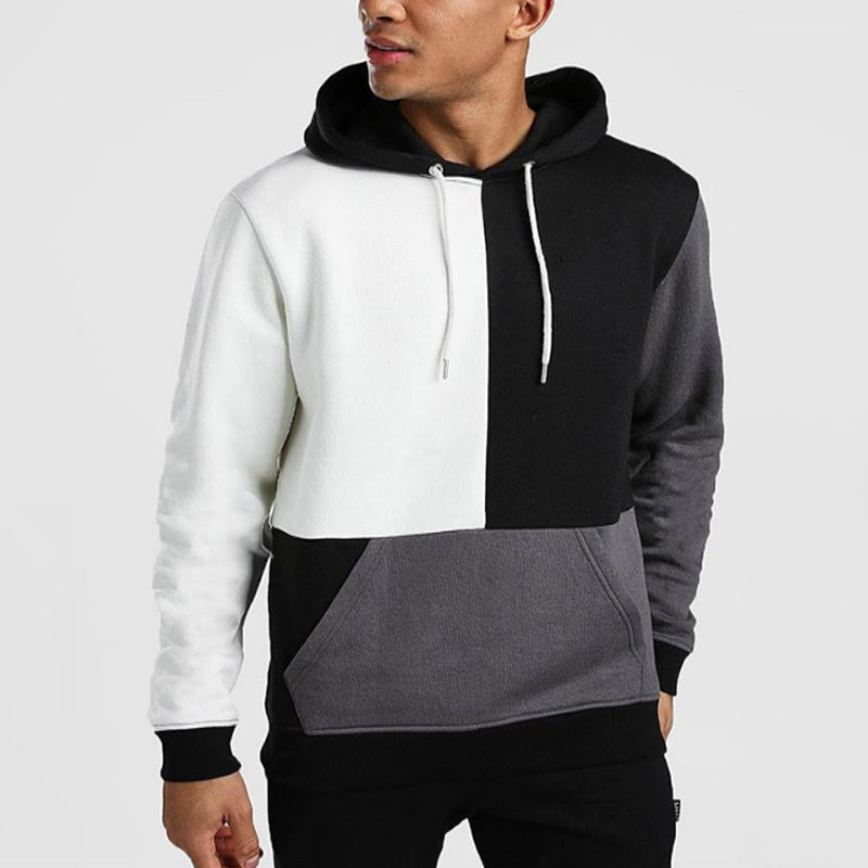 Men's Fashion Patchwork Hoodie
