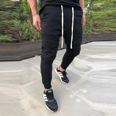 MANFLARE - Men's plain sports casual slim trousers