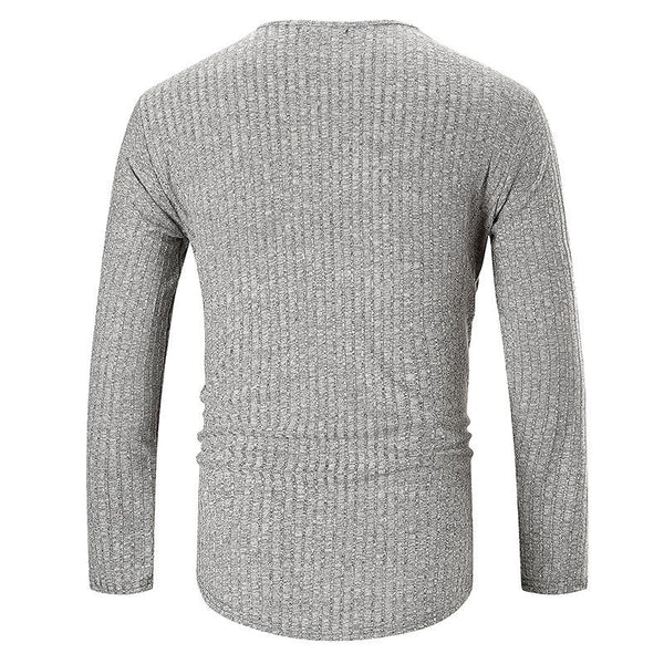 MANFLARE - Men's new plain fashion casual round neck long sleeve T-shirt