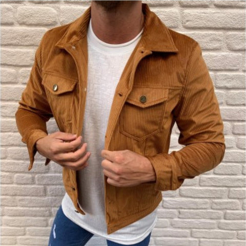 Men's Fashion Lapel Corduroy Jacket
