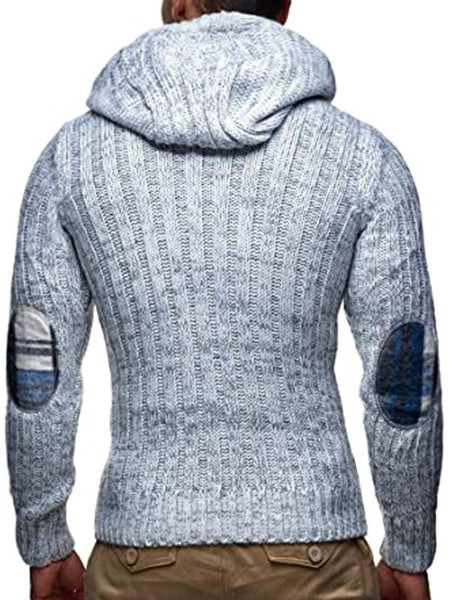 Mens fashion casual hooded button Pullover