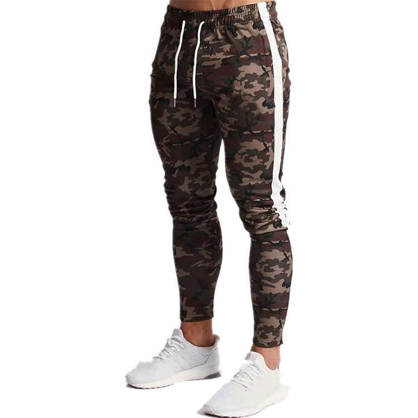 Men's fashion camouflage running sweatpants
