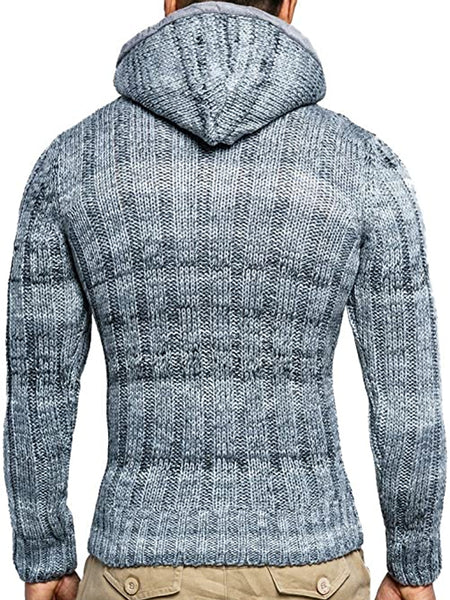 Mens fashion casual hooded sweater coat