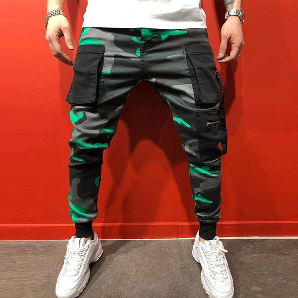 MANFLARE - Men's camouflage sports pocket trousers