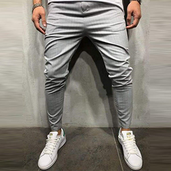 Mens new plain fashion sports casual striped trousers