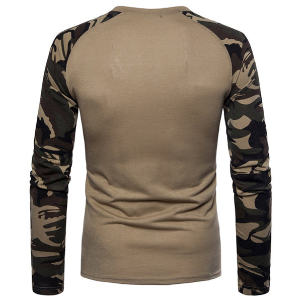 Men's Fashion Camouflage Long Sleeve T-shirt