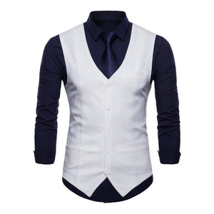 Mens Single-breasted Business Casual Vest