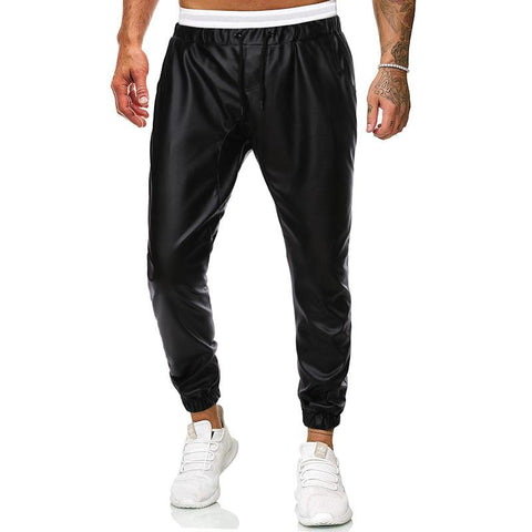 MANFLARE - Men's PU Casual Pants