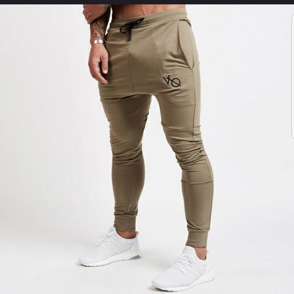 Men's new plain casual sports slim trousers