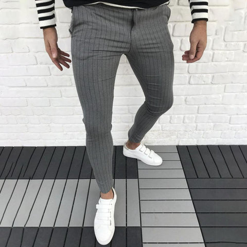 MANFLARE - Men's New Stretch Stripe Casual Business Straight Pants