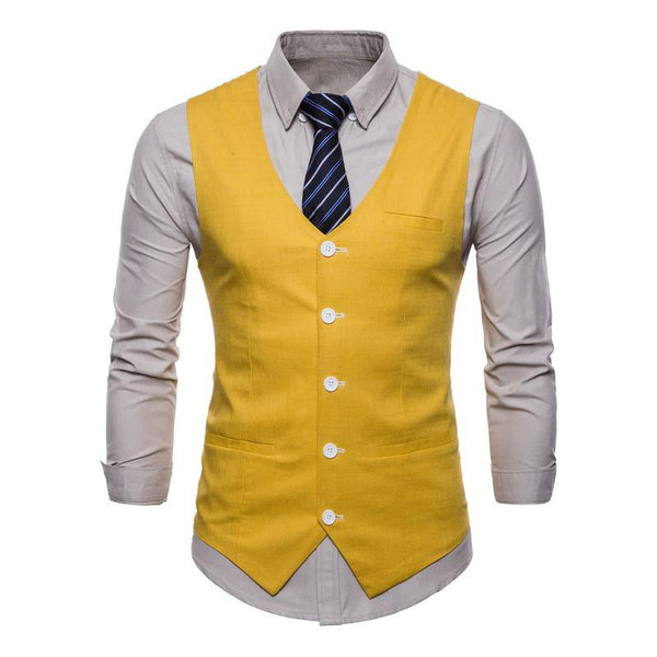 MANFLARE - Men's single-breasted business casual vest