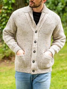 MENS FASHION CASUAL THICK SWEATER KNITTED CARDIGAN