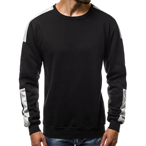 Men's casual color matching sports sweater