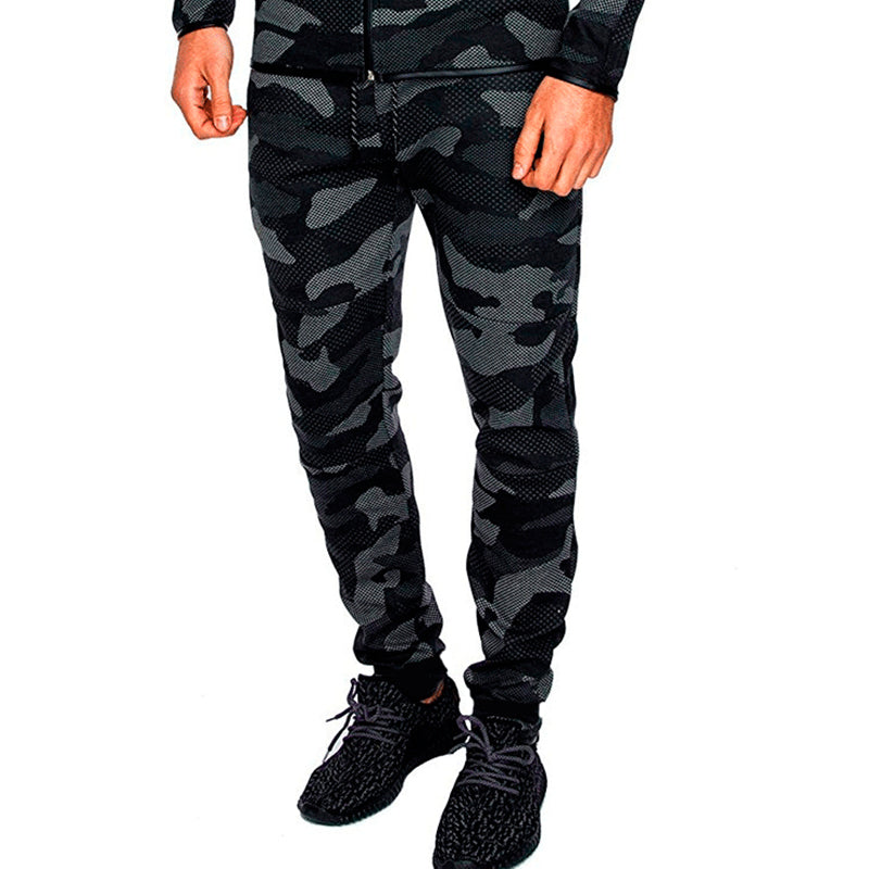 Men's sports casual fashion camouflage slim pants