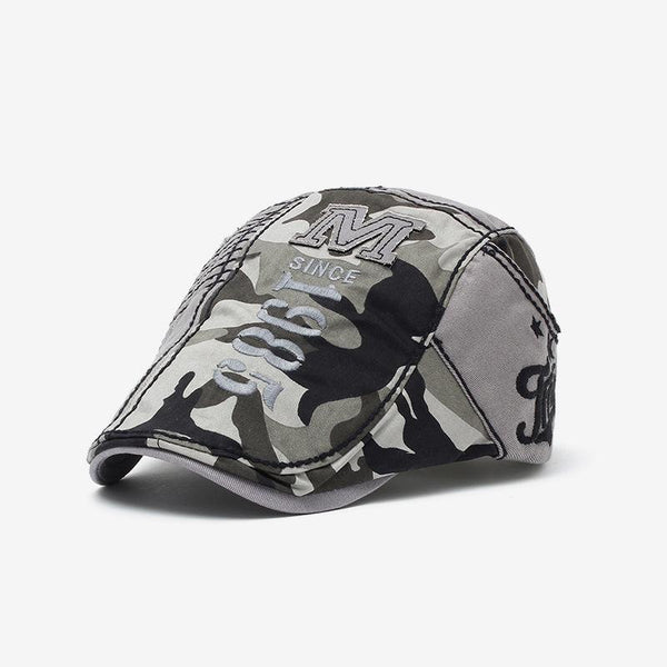 Mens casual outdoor camouflage embroidery letter cap