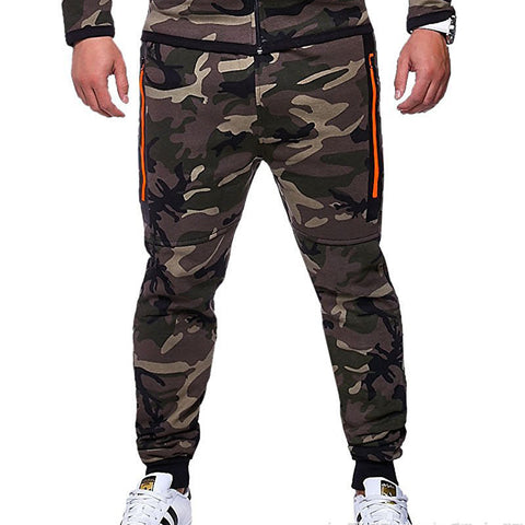 Mens sports casual fashion camouflage slim pants