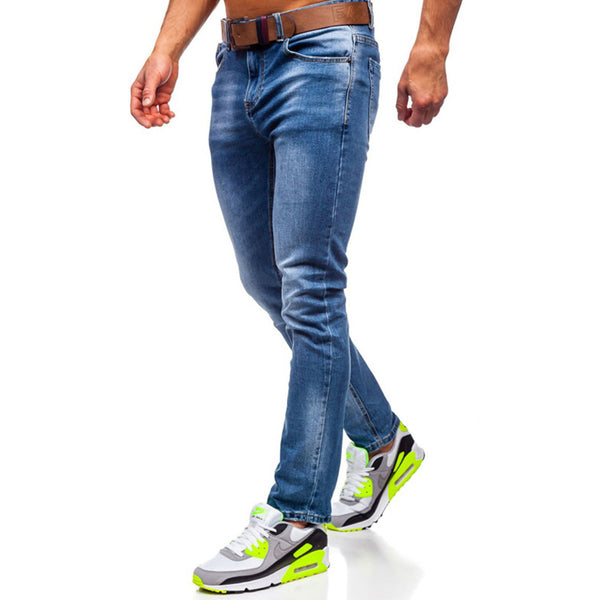 Men's fashion slim denim trousers