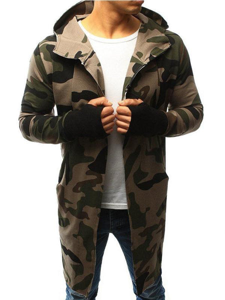 Men's Camouflage Hooded Jacket
