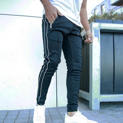 MANFLARE - Men's color block casual sports trousers