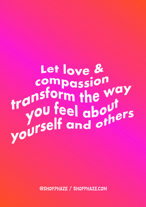 "Open image in slideshow, ""Love & Compassion"" Poster A2"