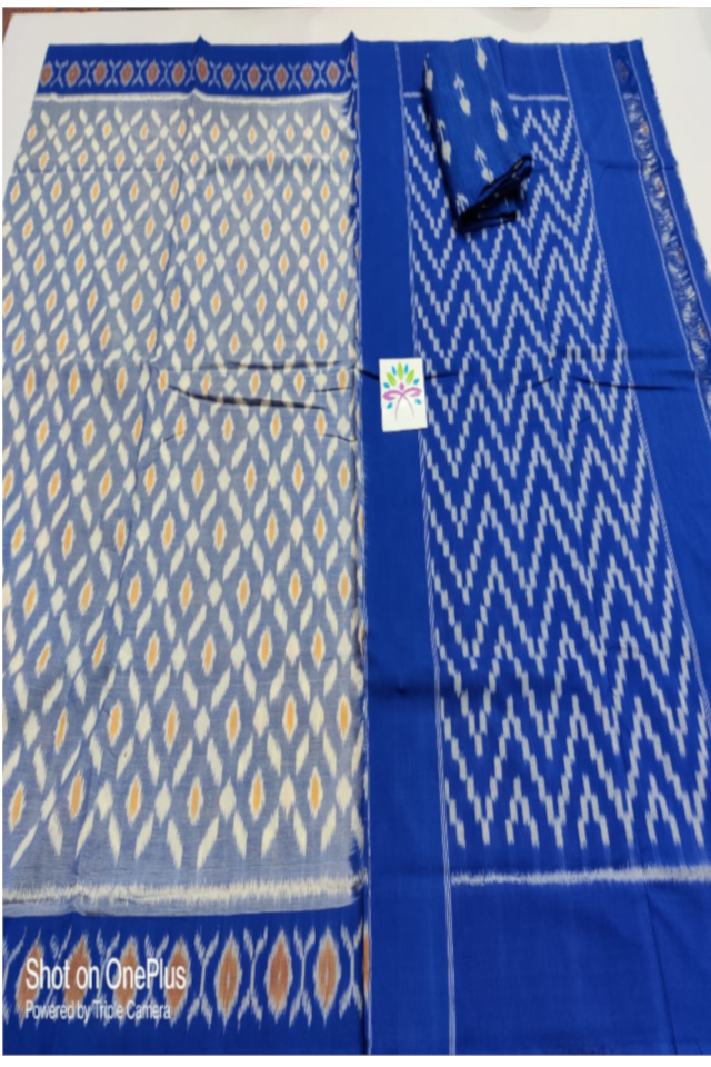 Ikat Mercerized Cotton Sarees