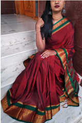 Mercerized Cotton Saree