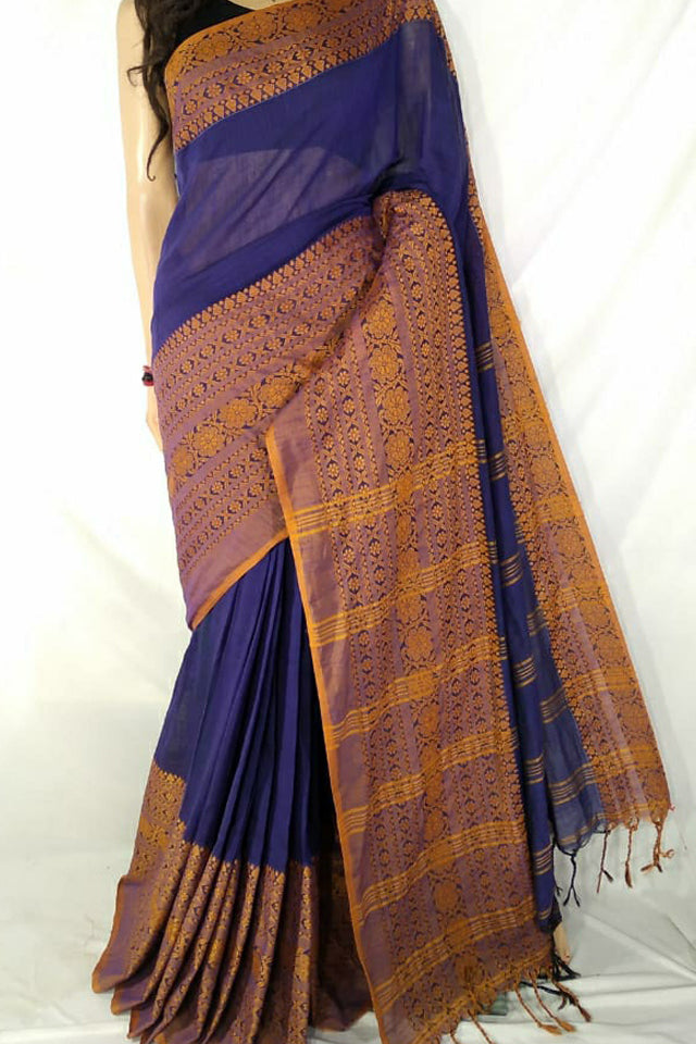 Handloom Wide Border Cotton Saree