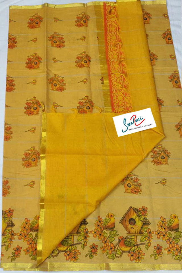 Mangalgiri cotton digital printing