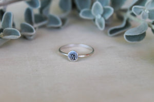Virgo Zodiac Stacking Ring
