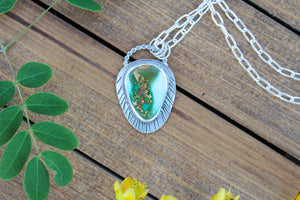 Mountain Turquoise Necklace - 28 in