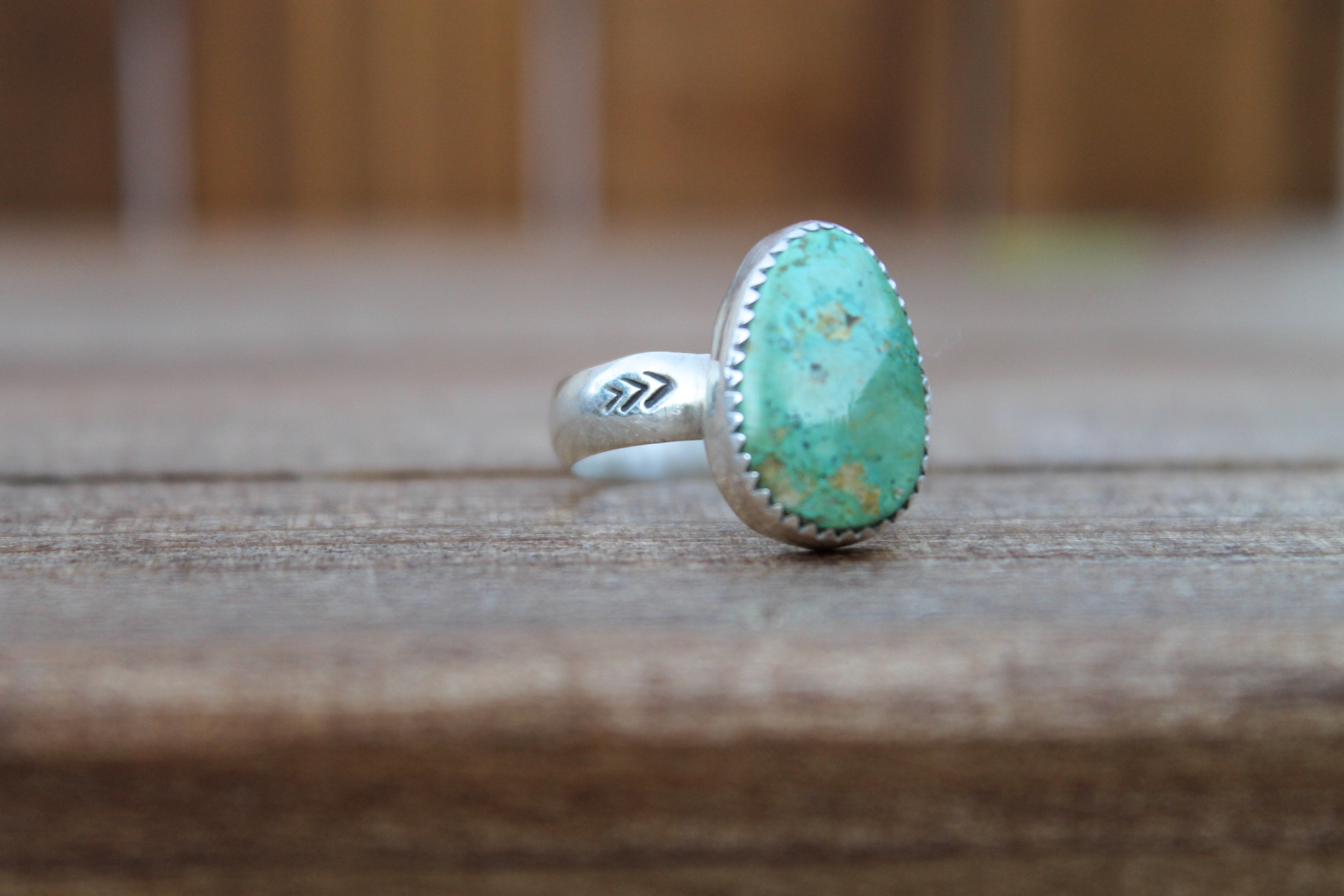 Mountain Turquoise Ring - Size 6.75