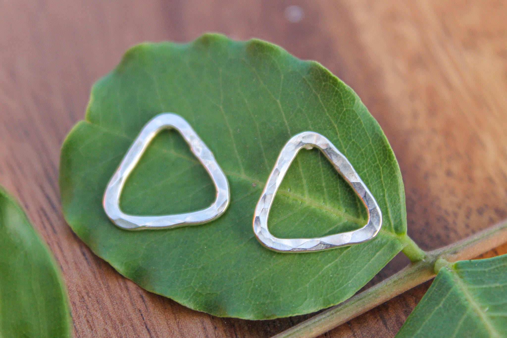 Sterling Silver Triangle Stud Earring
