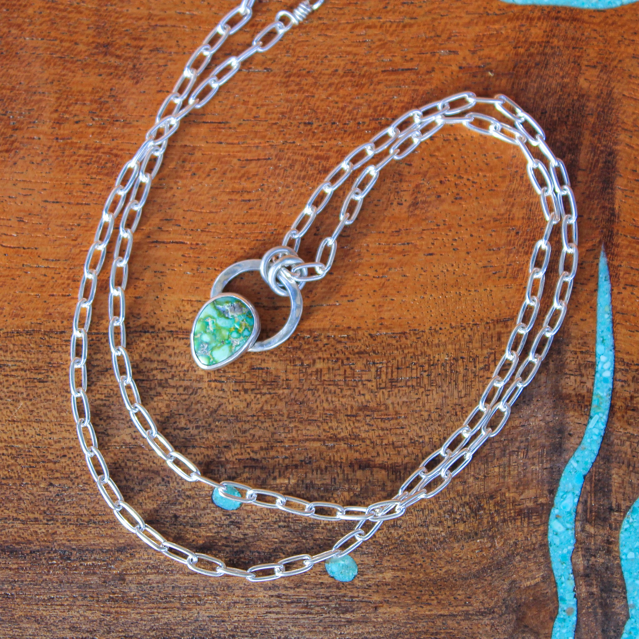 Sonoran Gold Turquoise Teardrop Necklace