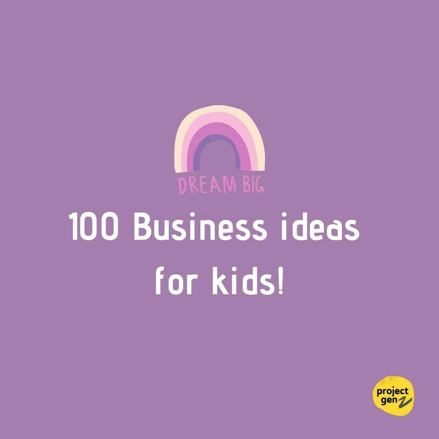 Freebie-100 Business Ideas for kids, online program-[ Projectgenz][Daretodreamshop]