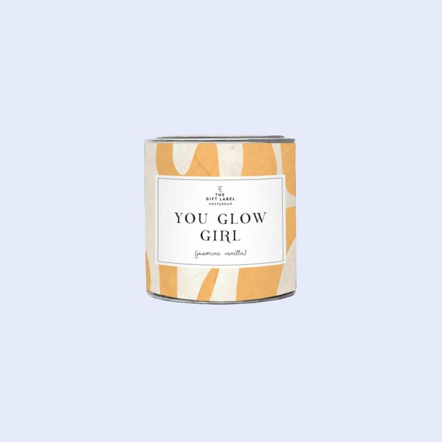 You Glow Girl candle tin 90g- Fresh Cotton, Gift-[ Projectgenz][Daretodreamshop]