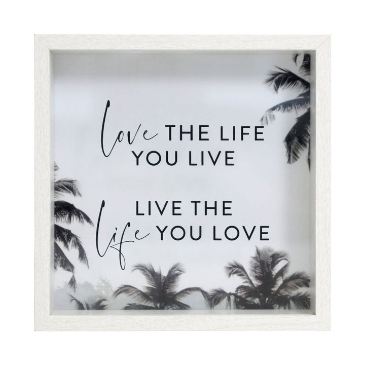 'Love the life you live, live the life you love' 3D Frame, Gift-[ Projectgenz][Daretodreamshop]