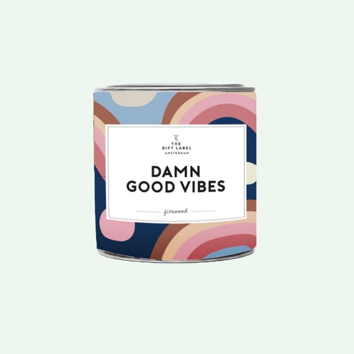 Damn Good Vibes Candle 310g - Fresh Cotton, Gift-[ Projectgenz][Daretodreamshop]