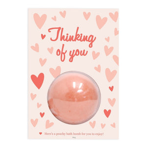'Thinking Of You' Bath Bomb Gift Card, Card-[ Projectgenz][Daretodreamshop]