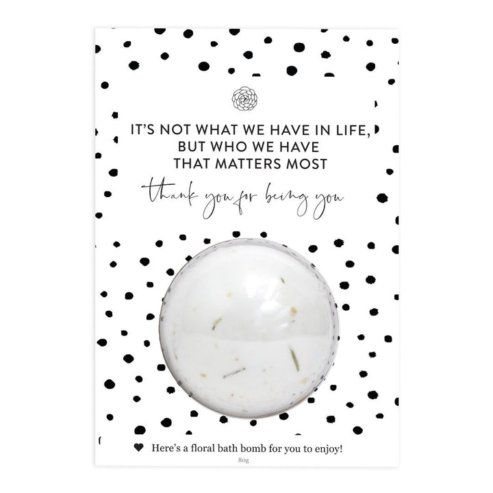 'Being You' Bath Bomb Gift Card, Card-[ Projectgenz][Daretodreamshop]
