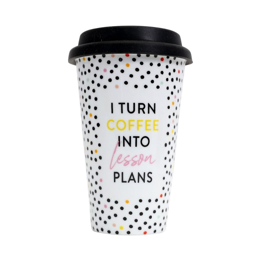 'I turn coffee into lesson plans' travel mug, Gift-[ Projectgenz][Daretodreamshop]