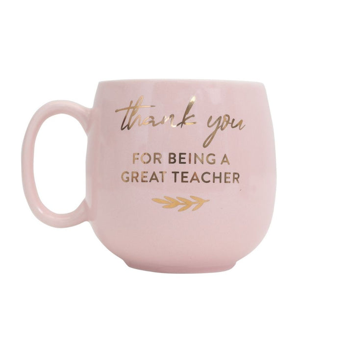 'Thank you for being a great teacher' mug, Gift-[ Projectgenz][Daretodreamshop]