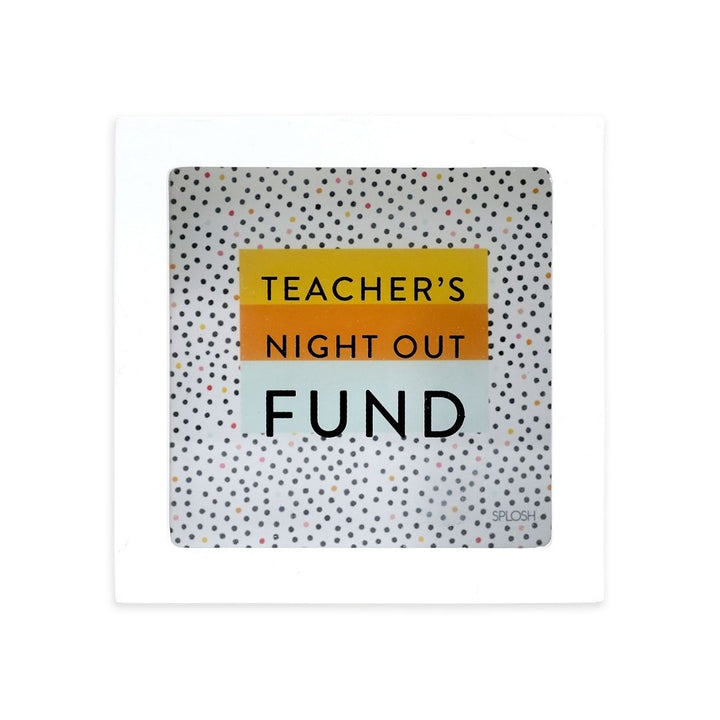 'Teacher Night Out Fund' Mini Money Box, Gift-[ Projectgenz][Daretodreamshop]