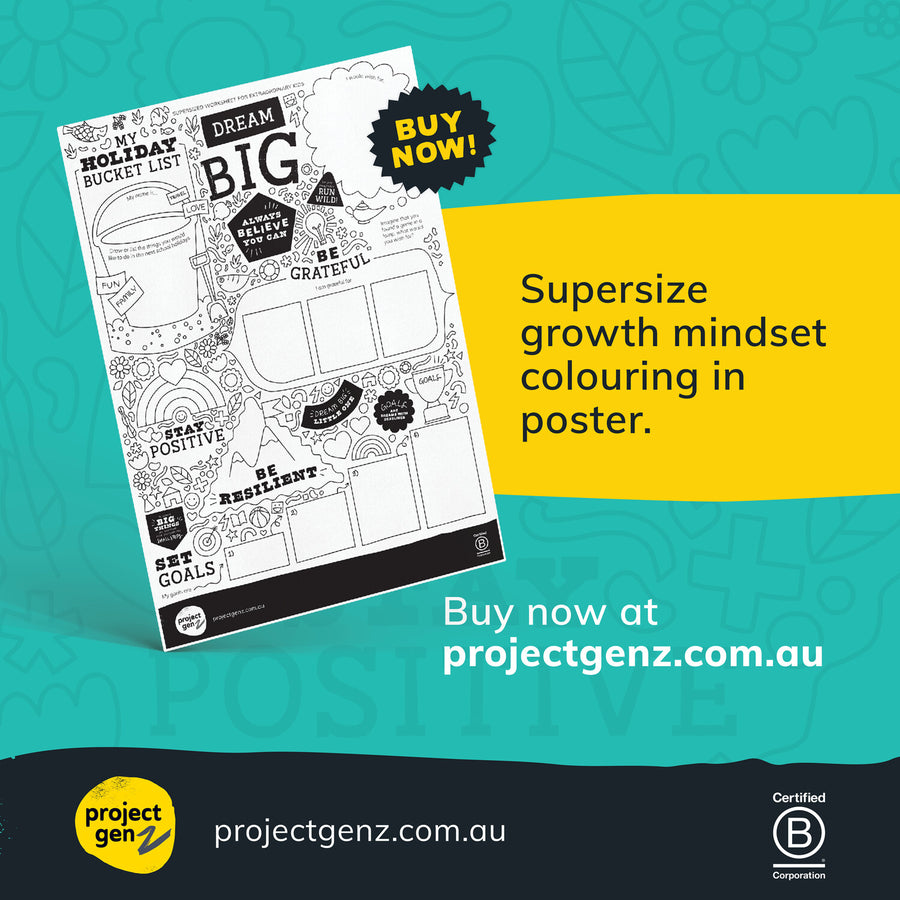 Supersize dreams, goals & passions poster for kids, online program-[ Projectgenz][Daretodreamshop]