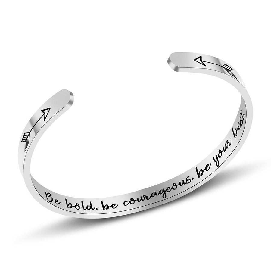 Be Bold, be Courageous cuff bracelet, Jewellery-[ Projectgenz][Daretodreamshop]