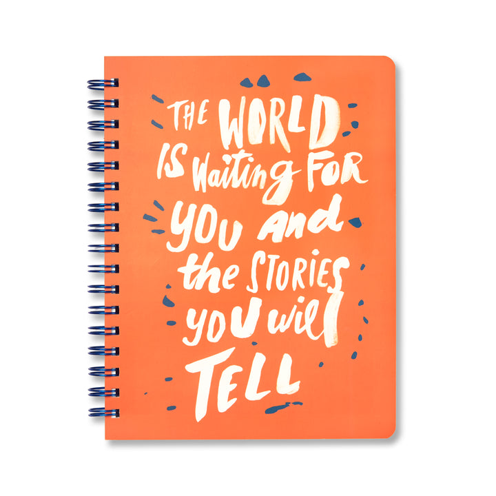 The World is Waiting notebook, Notebook-[ Projectgenz][Daretodreamshop]